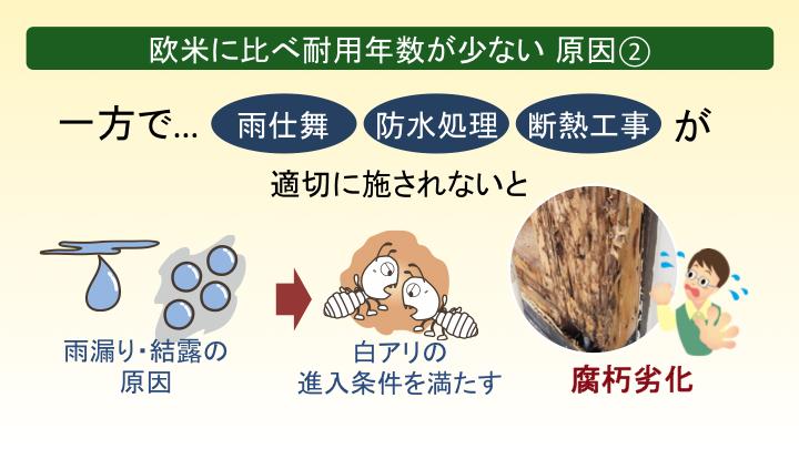 木造住宅の耐用年数 原因(2)